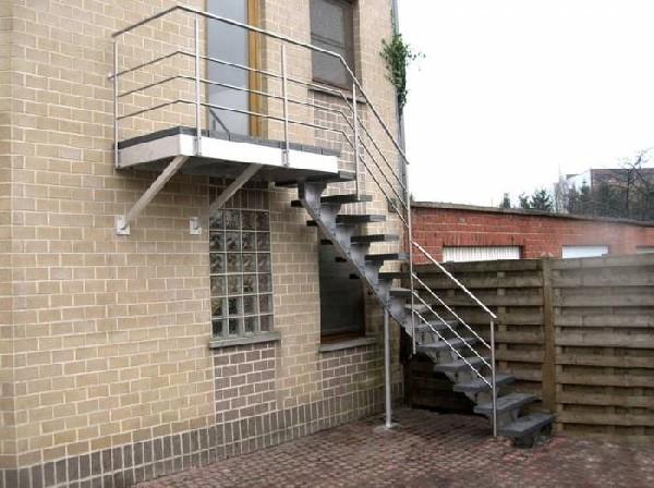 escalier extérieur en aluminium model spirwill