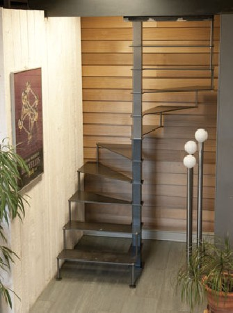 escalier compact  model steel up espace reduit
